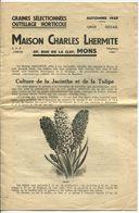 Mons Maison Charles Lhermite Graines Sélectionnées Catalogue 1935 - 8 Pages - Collections