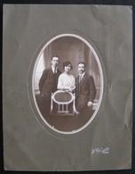 PHOTO ANCIENNE - PORTRAIT DE FAMILLE EN MEDAILLON - DEBUT XXeme - PHOTO LAHEURTE A MOREZE - Personnes Anonymes