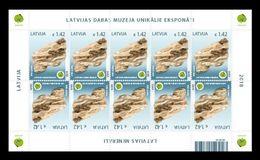 Latvia 2018 Mih. 1039 Minerals. Gypsum (M/S) MNH ** - Lettland