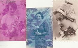LOT De 3 CPA FEMME DE LA SAINTE CATHERINE ( TOUTES En Très Très Bon état) TI 979 ) - Sainte-Catherine
