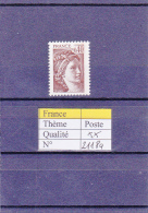 1981 France Sabine Sans Bande Phosphore  2118a ** - 1977-81 Sabine Of Gandon