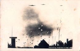 Carte Photo Herinnering Nederland 10 Mei 1940 - YPENBURG - Landing Van Duitse Parachutisten - Guerre 1939-45