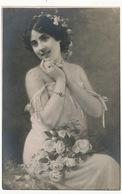 Belle Femme Peinte Par Serendat De Belzim Né à Port Louis Mauritius Mort à St Germain En Laye . Les Premieres Roses - Maurice