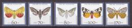Hrl_ Bund - Mi.Nr. 1602 - 1606 - Postfrisch - Tiere Animals Schmetterlinge Butterflies - Mariposas