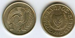 Chypre Cyprus 1 Cent 1992 KM 53.3 - Chypre