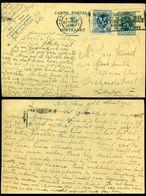 België 1933 Postkaart Met Bijgeplakt OPB 285 Van Antwerpen Naar Londen - Entiers Postaux