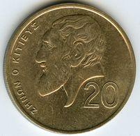 Chypre Cyprus 20 Cents 1990 KM 62.1 - Chypre