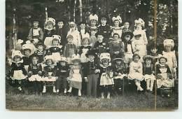 Carte-Photo - Kerans Ker - QUIMPERLE - Groupe D'enfants En Costume Bretons - Quimperlé