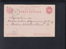 Romania Stationry 1881 Caracal To Berlin - Ganzsachen