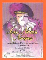"""étiquette De Vin Pinot Dardagny """" Les Noces Noires """" Domaine De Chafalet Ramu à Genève - Illustrée Jerry Koch -70 Cl - Collections & Sets"""