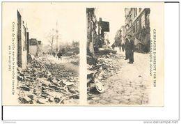 SALONIQUE GRECE COINS DE LA VILLE APRES LE TERRIBLE INCENDIE 1917 MULTIVUE CPA BON ETAT - Greece