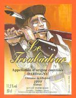 """étiquette De Vin Gamay Dardagny """" Le Troubadour """" Domaine De Chafalet Ramu à Genève - Illustrée Jerry Koch -50 Cl - Collections & Sets"""