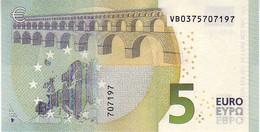 (Billets). 5 Euros 2013 Serie VB, V007J5 Signature 3 Mario Draghi N° VB 0375707197 UNC - EURO