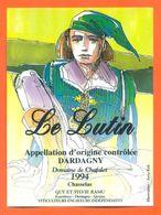 """étiquette De Vin Chasselas Dardagny """" Le Lutin """" Domaine De Chafalet Ramu à Genève - Illustrée Jerry Koch -75 Cl - Collections & Sets"""
