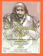 """étiquette De Vin Pinot Dardagny """" Le Chevalier Gris """" Domaine De Chafalet Ramu à Genève - Illustrée Jerry Koch -75 Cl - Collections & Sets"""