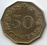Malte Malta 50 Cents 1972 KM 12 - Malta