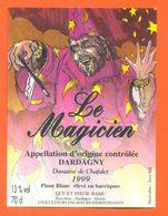 """étiquette De Vin Pinot Blanc Dardagny """" Le Magicien """" Domaine De Chafalet Ramu à Genève - Illustrée Jerry Koch -70 Cl - Collections & Sets"""