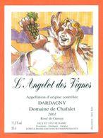"""étiquette De Vin Gamay Dardagny """" L'angelot Des Vignes """" Domaine De Chafalet Ramu à Genève - Illustrée Jerry Koch -50 Cl - Collections & Sets"""