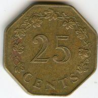 Malte Malta 25 Cents 1975 KM 29 - Malta