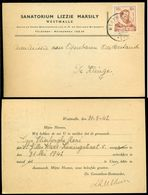 België 1942 Kaart Met OPB 595 Vanuit Westmall - Covers & Documents