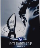 PUB ,,,, SCULPTURE    HOMME ,,,,NIKOS  PARFUMS,,,, TBE - Perfume & Beauty