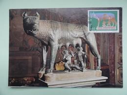 CARTE MAXIMUM CARD LOUVE DU CAPITOLE ITALIE - Scultura