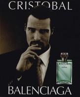 "PUB ,,,,  PARFUM  BALENCIAGA  ,,,, ""  CRISTOBAL ""   TBE - Perfume & Beauty"