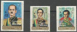 Bolivia - 1975 Presidents (airmail) MNH **   Sc C350 & C352-3 - Bolivia