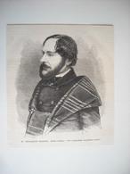 GRAVURE 1873. M. PHILARETE CHASLES, DECEDE A VENISE. NE A MAINVILLIERS. - Prints & Engravings