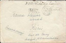 SAVOLY HONGRIE A PARIS YEAR 1918 RARE ENVELOPPE CIRCULEE VOIR SCANS - Covers & Documents