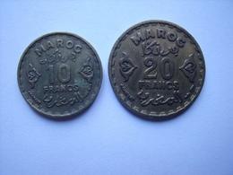 MAROC   = 4  PIECES  DE MONNAIE - Maroc