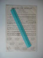 PARTITION DE MUSIQUE 1873. LES AMOURS DE BERTHE. CHANSON INEDITE. PAROLES ET MUSIQUE DE GUSTAVE NADAUD. - Song Books