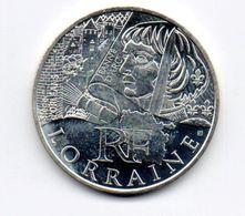 Piéce De 10 Euros 2012 Des Régions - Commémoratives