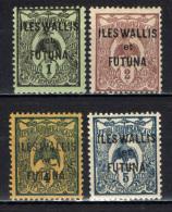 ILES WALLIS  FUTURA - 1920 - FRANCOBOLLI DELLA NUOVA CALEDONIA CON SOVRASTAMPA - MH - Ongebruikt