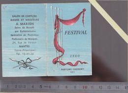 Calendrier Parfumé Petit Format - Parfum Cheramy Festival - 1960 - Coiffeur - Marion Nantes - Calendriers