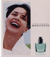 """PUB ,,,,,, PARFUM  ISABELLA  ROSSELLINI' S ,,,,, """"  MANIFESTO """" ,,,,,,TBE - Perfume & Beauty"""