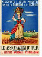 LE ASSICURAZIONI D'ITALIA....... - VIAGGIATA - Werbepostkarten