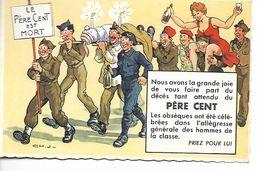 Carte Humoristique Le Père Cent Est Mort. . - Faire-part