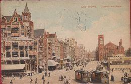 Oude Postkaart 1913 Amsterdam Damrak Met Beurs Tram Tramway Old Postcard - Amsterdam