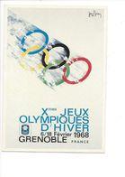 19399 - Grenoble 1968 Jeux Olympiques D'Hiver (Reproduction D'Affiche Format 10 X 15) - Jeux Olympiques
