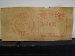 RDB. Ti. A7. Vignette D'afranchissement Automatique. Edegem 2520. 1977 20 Francs - Franking Machines