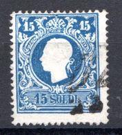 LOMBARDO VENETO 1859 15 SOLDI USATO - Lombardo-Vénétie