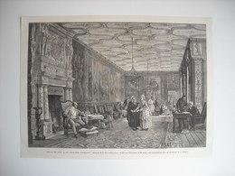 GRAVURE 1873. SALON DE 1873. LE JOUR DES FERMAGES. D'APRES UN TABLEAU DE M. E. BERNE-BELLECOUR. - Song Books