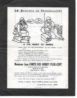 Père Cent 54ème RT. 69 2/B. 3 Pages D'humour Militaire. - Faire-part