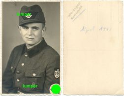 2. WK Fotokarte, Arbeitsmann Orden XJ Leistungsabzeichen RAD 6/195 Quakenbrück - 1939-45