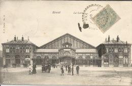 29  BREST  La GARE  Animation 1905 - Brest