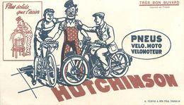 VP-GF.18-50 : BUVARD.  PNEUS HUTCHISON POUR VELO  MOTO. AIGUISEUR. MONTARGIS - Produits Laitiers