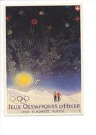 19404 - Saint-Moritz 1948 Jeux Olympiques D'Hiver (Reproduction D'Affiche Format 10 X 15) - Jeux Olympiques