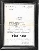 Père Cent E.N.P. Thiers. 52/56. Avec Photos Et Noms Des Militaires. 7 Pages. - Faire-part