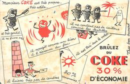 VP-GF.18-52 : BUVARD.  CHARBON COKE - Buvards, Protège-cahiers Illustrés